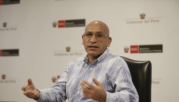 Waldo Mendoza, titular del Ministerio de Economía y Finanzas (MEF). (Foto: César Campos/GEC)