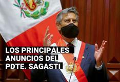 Francisco Sagasti: Las declaraciones más importantes del presidente en entrevista con los programas dominicales