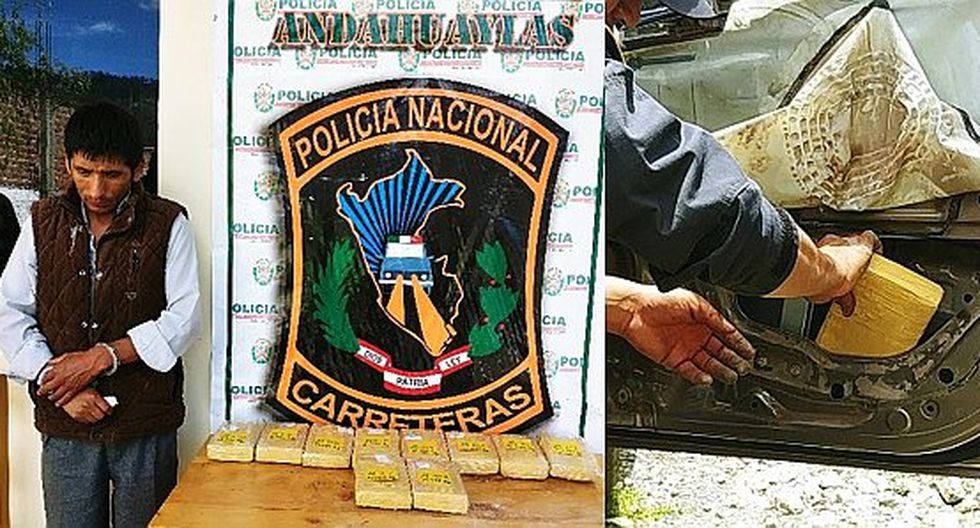 Policía de Carreteras interviene a traficante con 10 kilos de alcaloide de cocaína