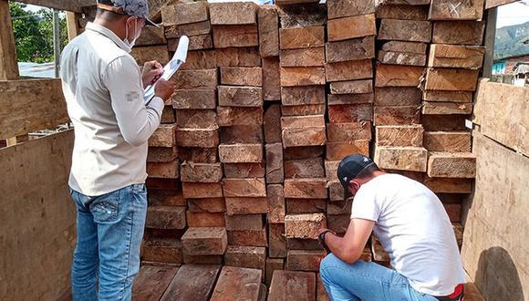 San Martín: incautan más de 15 mil pies tablares de madera de dudosa procedencia (Foto: Ministerio Público).