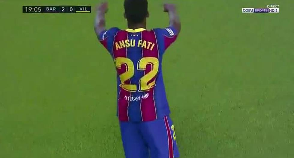 Barcelona vs. Villarreal: doblete de Ansu Fati para el 2-0 en el Camp Nou (VIDEO)