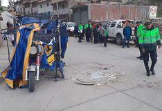 Brutal choque en las vías de Acobamba deja tres heridos de gravedad