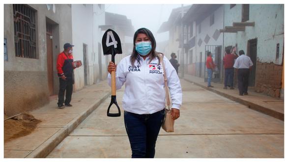 """Zuly Vera, aspirante al Congreso con el número 4 por Acción Popular, también dijo que """"para tener un cargo público hay que ser de rostro humano""""."""