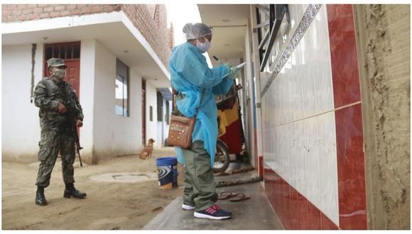 Casa por casa continúan los descartes del coronavirus en Santiago de Cao