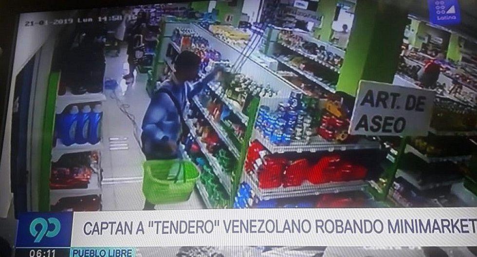 Extranjero es sorprendido robando productos de limpieza en un supermercado (FOTOS)
