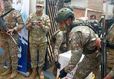 Aún no hay fecha para vacunación de policías y militares que patrullan zonas de contagio