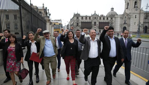 Según pedido contra izquierdistas, congresistas amedrentaron a los postulantes a tribunos. (Foto: Juan Ponce/GEC)
