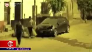 Sujetos aprovechan el toque de queda para robar autopartes en Chosica