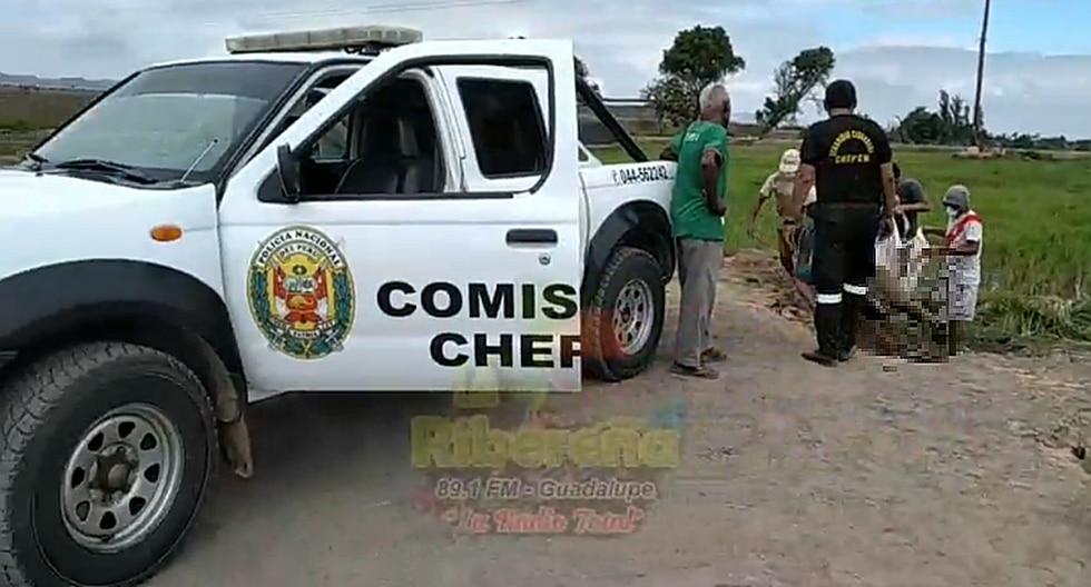 Encuentran cadáver de obrero en una poza en la provincia de Chepén