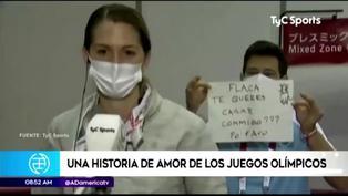 Tokio 2020: Entrenador le pidió matrimonio a esgrimista argentina en plena entrevista (VIDEO)