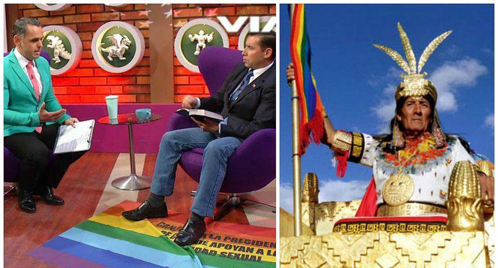 Pastor chileno homofóbico pisó bandera de Cusco pensando que era de LGTB (VIDEO)