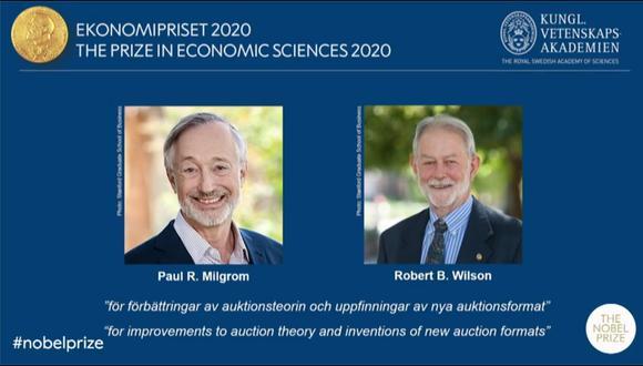 Este reconocimiento es el último de los Premios Nobel anunciado y será entregado, como los demás, el próximo 10 de diciembre. (Captura / YouTube / Nobel Prize)