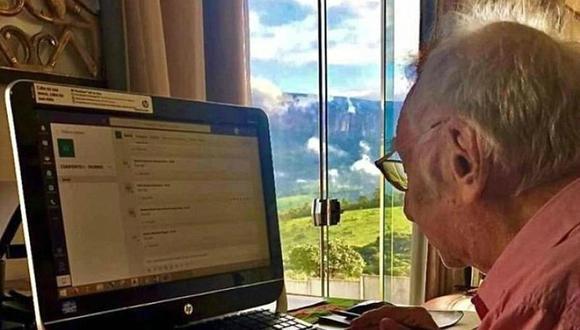 """""""Esto va a pasar. Tenemos que mantener la rutina en casa y mantener nuestras mentes en funcionamiento"""", dijo el hombre que se volvió viral en las redes sociales."""