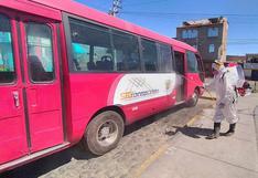 Arequipa: Piden S/1.490.000 para continuar la desinfección de buses del SIT
