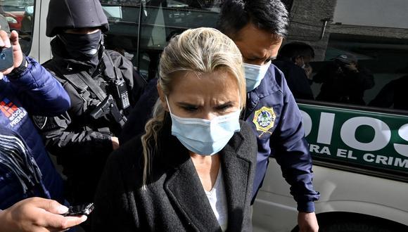 Jeanine Áñez fue detenida por presuntamente tramar un golpe contra Morales. (Foto: AIZAR RALDES / AFP)