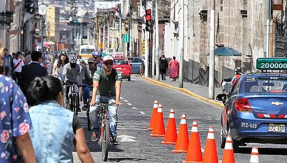 En 20 días implementarán primera ciclovía en Arequipa