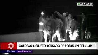 Extranjero fue golpeado por sus compatriotas tras intentar robar celular de uno de ellos (VIDEO)