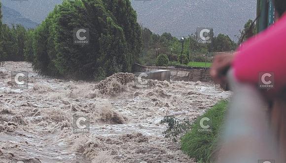 Agricultores de Tiabaya  preocupados ante posibles crecidas del Chili