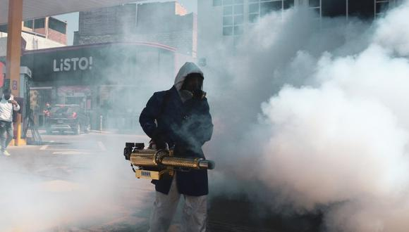 En Yanahuara fumigaron calles para reducir riesgo de contagio  Foto: Yanahuara