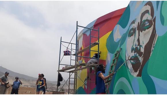El Porvenir: Colectivo Ayllu Guta visualiza murales en zonas vulnerables