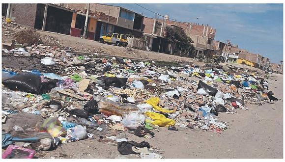 Más de 80 toneladas de basura sin recogerse en la ciudad de Chiclayo