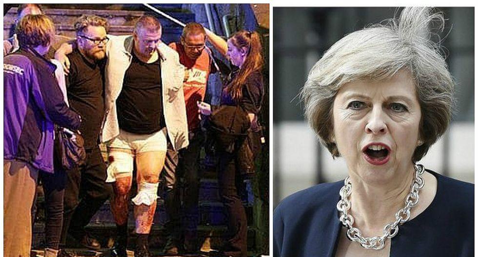 """Theresa May condena """"atroz ataque terrorista"""" en concierto de Ariana Grande en Manchester"""