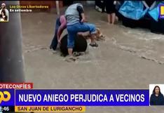 Nuevo aniego inunda varias viviendas a vecinos de San Juan de Lurigancho