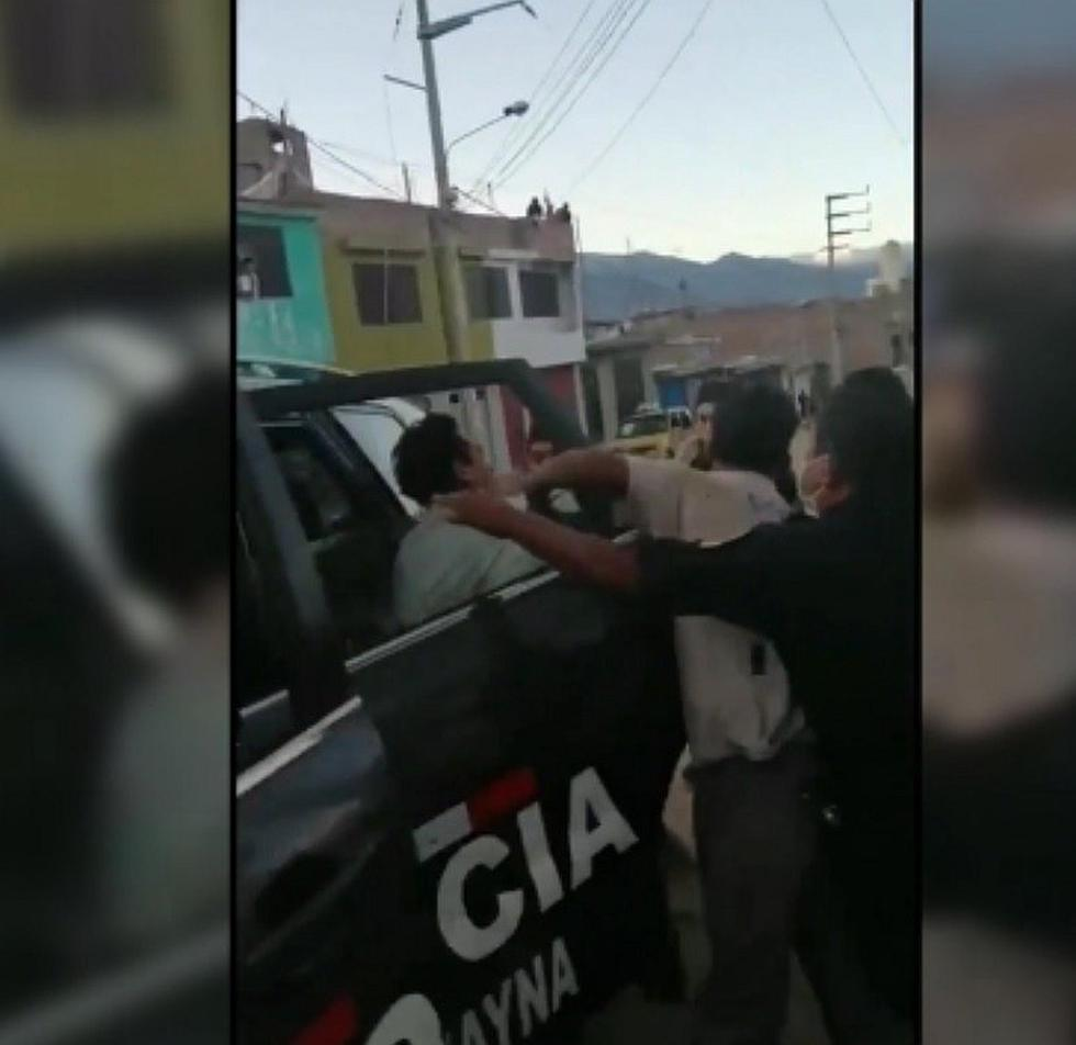 Huánuco: Hombres agreden a policía que los interviene por beber cerveza (VIDEO)