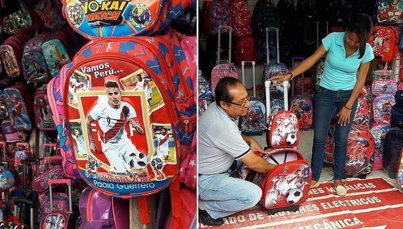 Mochilas de la selección peruana causan sensación en ferias escolares (VIDEO)