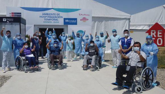 Piura: Cinco pacientes vencen al Covid-19 en villa médica de EsSalud La Videnita y son dados de alta. (Foto EsSalud)