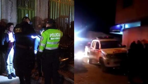 Los policías y el fiscal de turno llegaron al lugar para practicar las diligencias. (Foto: Difusión)