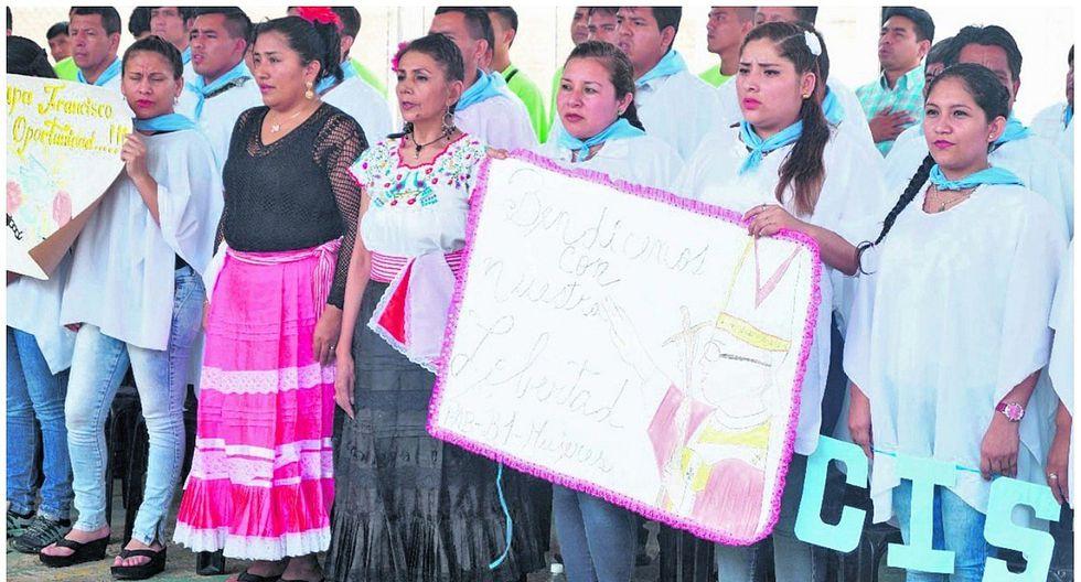 Internos del penal de Chiclayo celebran la llegada del Papa Francisco