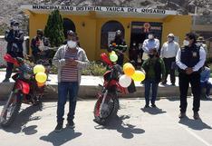 Municipio de Yauca del Rosario adquiere dos unidades motorizadas para el serenazgo