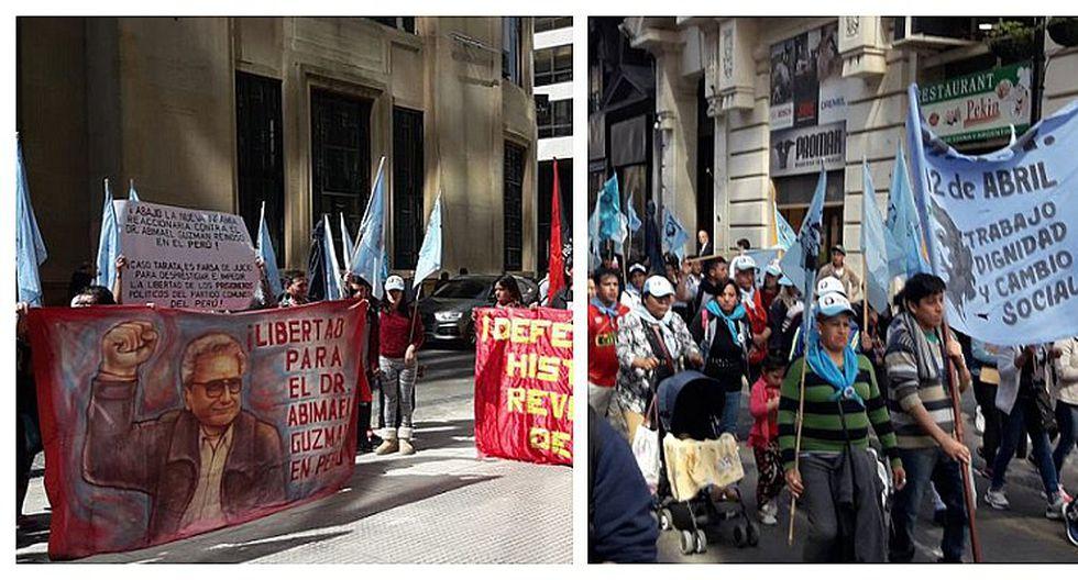 Simpatizantes de Sendero Luminoso en Argentina protestan por cadena perpetua a cúpula (FOTOS)