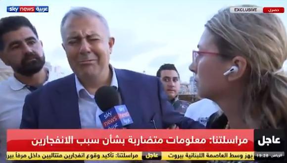 """Gobernador de Beirut llora en entrevista por explosión en su ciudad: """"Un desastre nacional parecido a Hiroshima"""" (VIDEO)"""