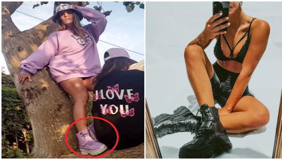 Alejandra Baigorria es acusada de plagiar modelo de zapatos de una marca emprendedora. (Fotos: Instagram)