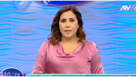 Andrea Llosa anuncia separación con su esposo Luis Ávalos. (Foto: Captura ATV)