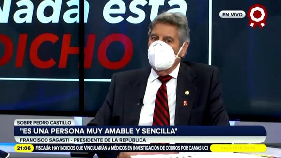 Francisco Sagasti habló con Pedro Castillo sobre Asamblea Constituyente