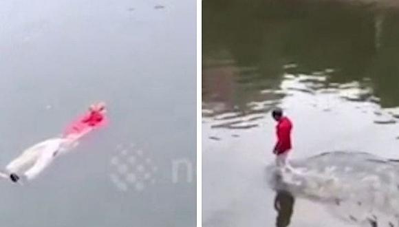 Confunden a hombre ebrio con cadáver en China (VIDEO)
