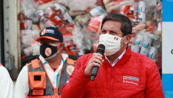 El ministro de Defensa, Jorge Chávez, se reunió con el jefe de la ONPE, Piero Corvetto, para iniciar coordinaciones de caras a los comicios. (Foto: Andina)