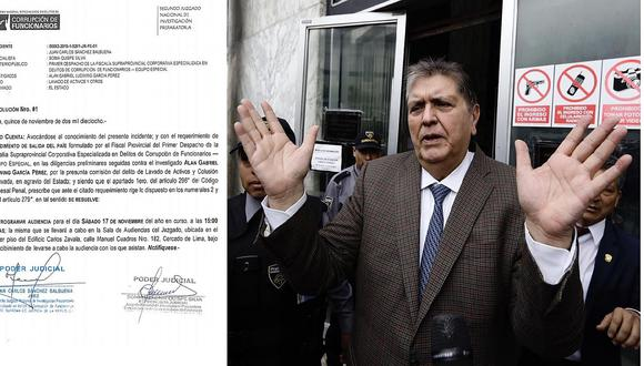 Poder Judicial realizará el sábado audiencia sobre impedimento de salida del país contra Alan García