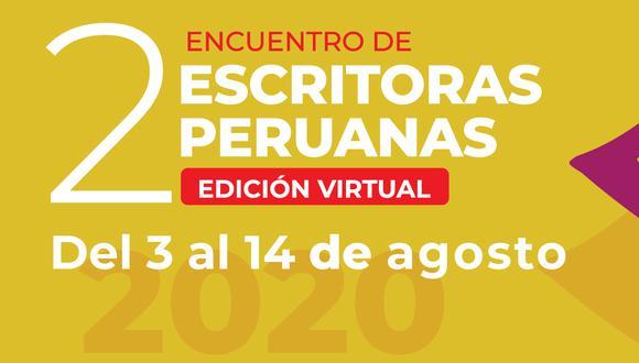 La edición virtual del Segundo Encuentro de Escritoras Peruanas será desde hoy hasta el 14 de agosto.