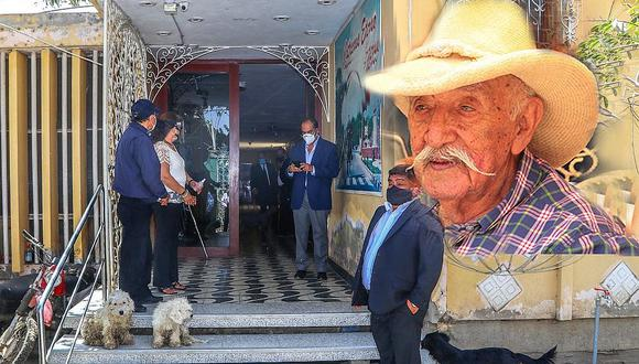 Autoridades le rinden homenaje al exalcalde de Catacaos y parlamentario por la región Piura.