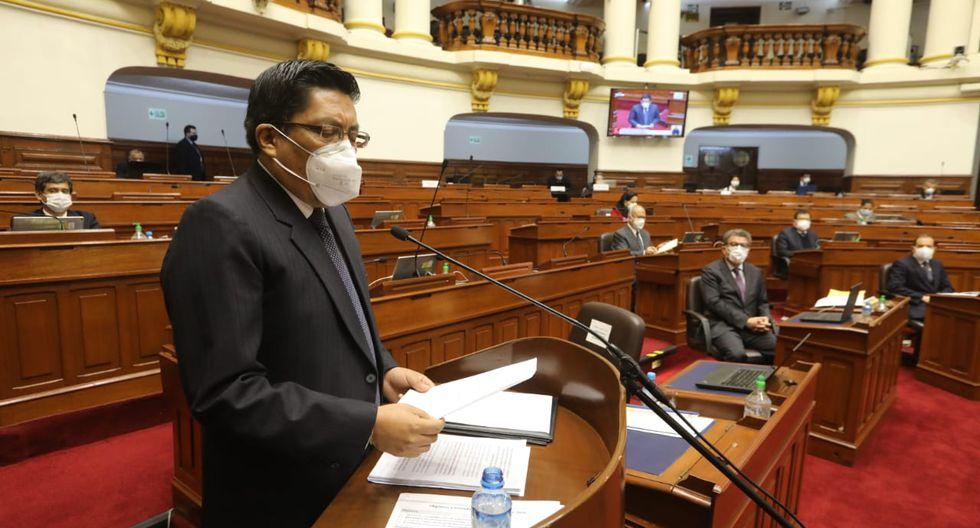 Congreso: los voceros que no utilizaron correctamente la mascarilla durante su participación en el pleno