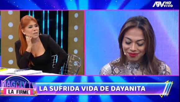 Magaly Medina le propone a 'Dayanita' ir en busca de su hijo luego que madre se negó a que menor tenga prueba de ADN. (Foto: Captura ATV).