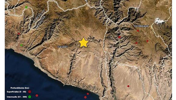 Temblor de 4.5 grados de magnitud sacude provincia de Caravelí en Arequipa
