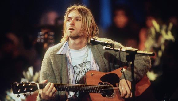 Kurt Cobain en el MTV Unplugged de Nirvana. (Foto: Getty)