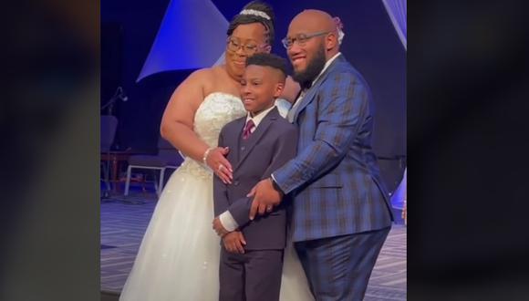 Niño es adoptado en la boda de sus padres y el video se vuelve viral en TikTok (Foto: TikTok)