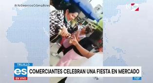 Trujillo: comerciantes celebran en mercado con banda de músicos