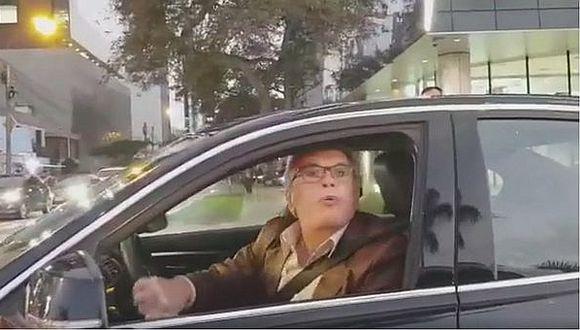 """Sujeto que amenazó con arma a conductor: """"Reaccioné mal, pero no he cometido ningún ilícito"""" (VIDEO)"""